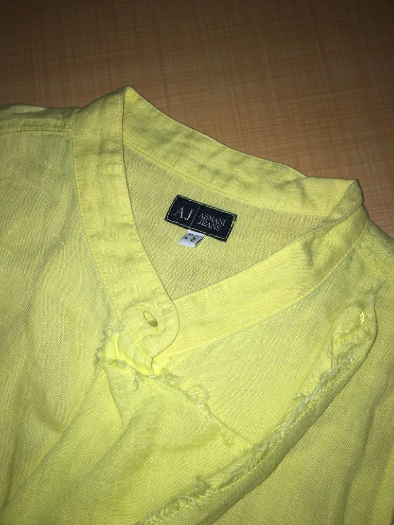 Yellow Top armani jeans