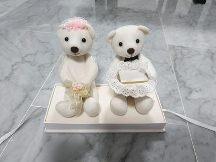 🚚 Wedding Bear Ring Holder