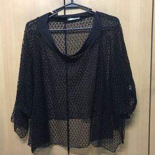 Beach cover-up (Black netted)