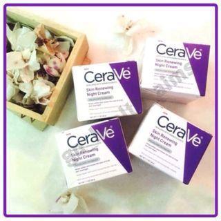 美國 CeraVe 適敏膚煥膚更新晚霜 Skin Renewing Night Cream 抗皺 緊緻 含3種親膚Ceramides神經醯胺1, 3, 6-ii及透明質酸