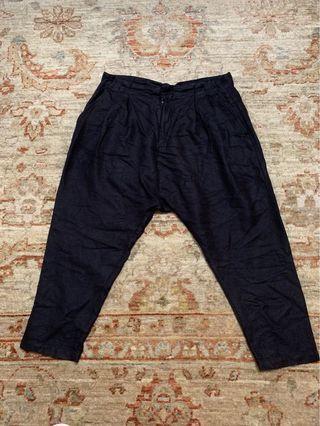 Kitterick 。斜紋棉褲。34腰。九分吊腳。夏天款