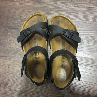 Birkenstock Black Rio Sandals