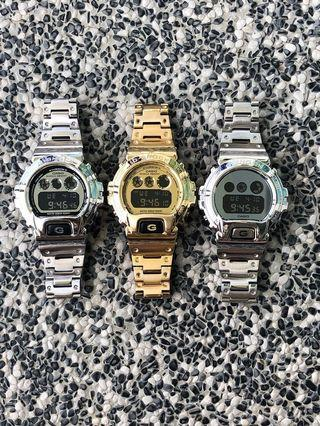 💯% authentic CASIO G-Shock DW- 6900 in Custom full stainless steel metal !!