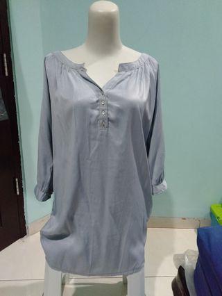 Blouse biru #ramadhanbermanfaat