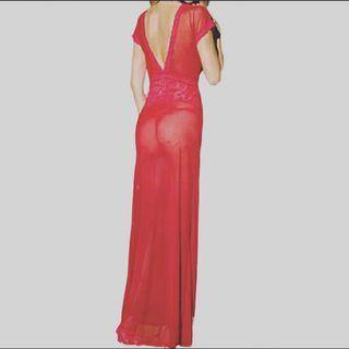 Lingerie Gaun Merah fit to XL