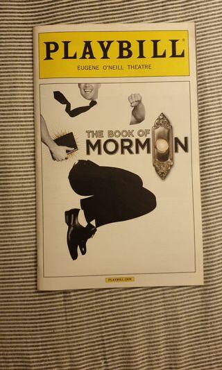 🚚 The Book of Mormon - playbill (broadway)