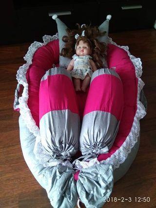 Revesible Baby Nest Bedding Set