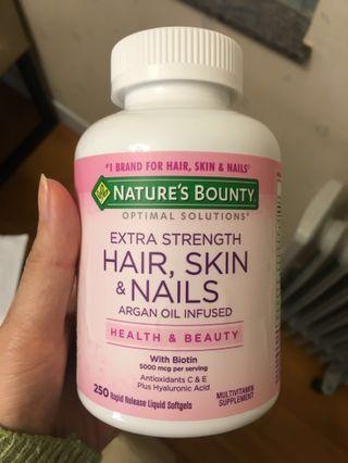 100% new nature's bounty hair skin nail optimal solution
