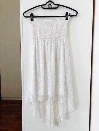 Off-White Lace High Low Dress