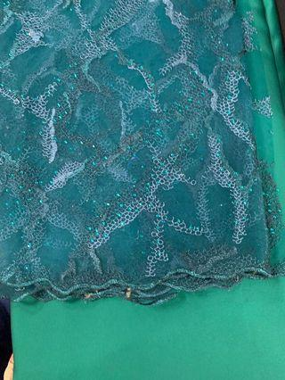 Kain lace 2.5m with lining 8meters (couple set)