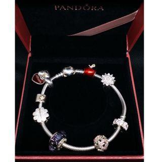 (二手 現貨)PANDORA 潘朵拉 銀飾 手鍊 9成新 原盒還在