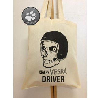 🚚 全新 VESPA 帆布袋 購物袋 單肩包