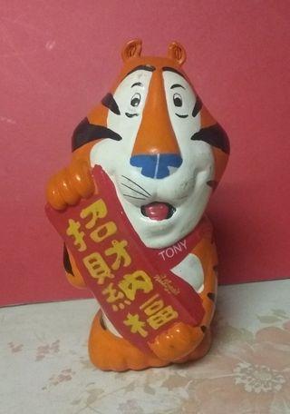 懷舊香港  8O年代 家樂士玉米片 TONY THE TIGER 恭賀新年錢罂 錢箱