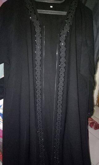 Gamis From Saudi JetBlack(XL) Zipper