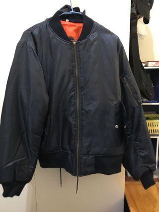 深藍飛行外套 ma1