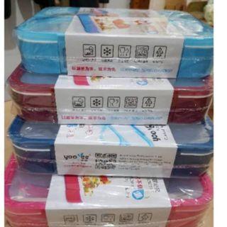 Yooyee Sekat 3 anti tumpah Lunch Box Sekat 3