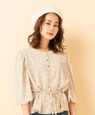 日系綁帶打結碎花裇衫上衣 Japan floral pattern top flower pattern top