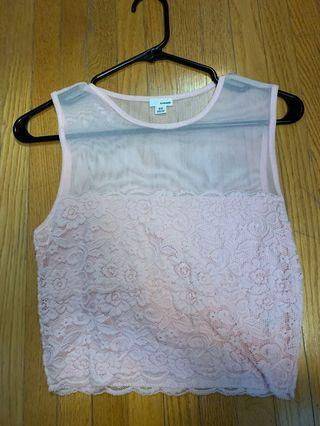 Mesh and lace tank top size medium