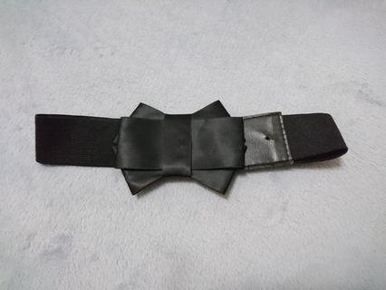 🚚 黑緞帶蝴蝶結腰封