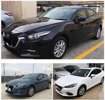 New Mazda 3 for rent