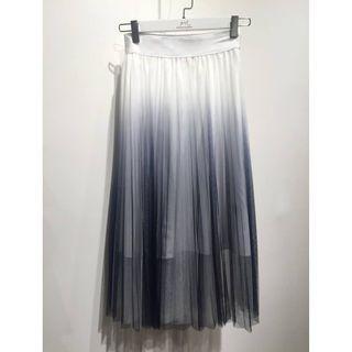 本地品牌 漸變灰藍色多層紗裙