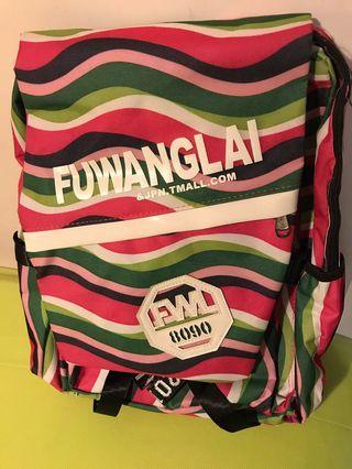 粉色滿版迷彩後背包
