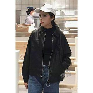 Korean biker bomber jacket