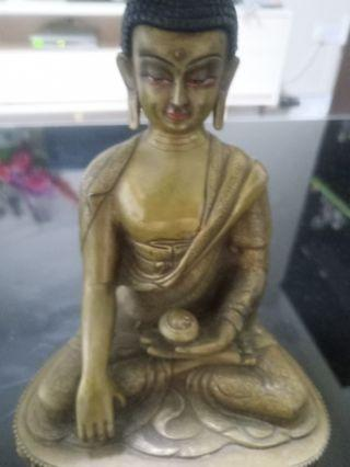🚚 Buddha Statue nice carving 22 cm high made by bronze