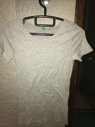 Grey Cotton T-shirt.