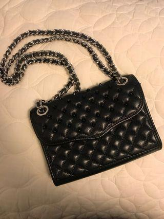 Rebecca Minkoff black studded purse