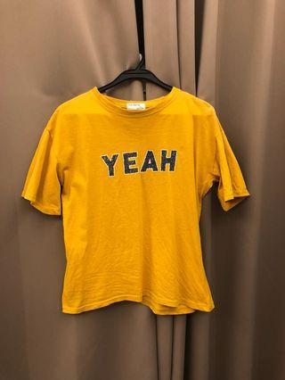 🚚 黃色上衣 T-shirt T恤