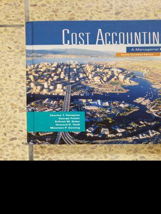Cost Accounting - A Managerial Emphasis 4th Ed