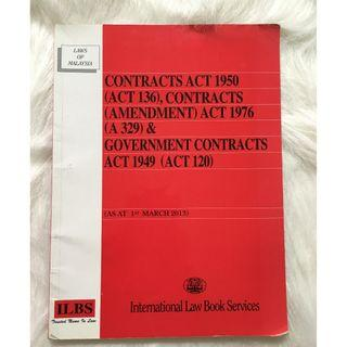 Contracts Act 1950 (Act 136), Contracts (Amendment) Act 1976 (A 329) & Government Contracts Act 1949 (Act 120)