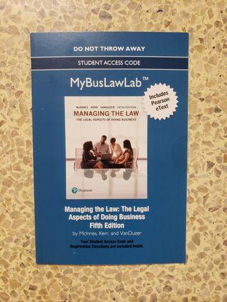 Managing the Law 5th Edition by McInnes