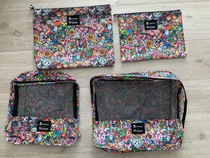 🚚 Tokidoki travel packing cubes set (4-in-1)