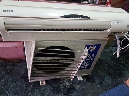 松靜冷氣3.5頓,適用14-16坪,100年製造