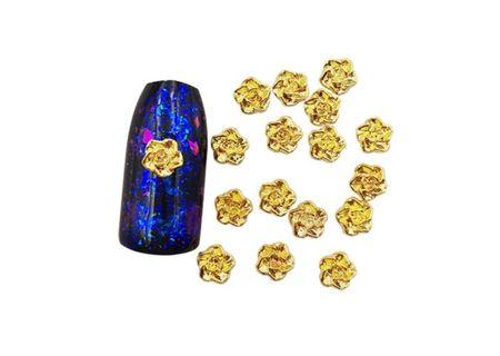 🚚 Nails roses studs (silver/gold)