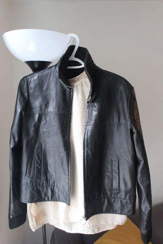 Real leather black Jacket in perfect condition