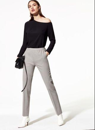 Aritzia babaton light grey wool pants