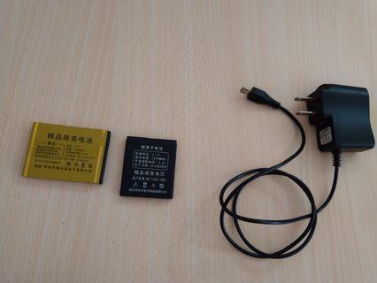 Free 手機電池及兩脚插頭