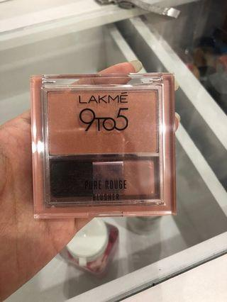 Lakme purè rouge blusher shade ginger surprise