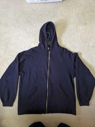 Fleece Dark Navy Hoodie (M)
