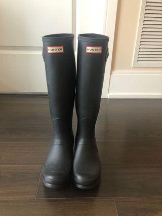 Womens Size 8 Black Tall Hunter boots