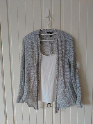 🚚 H&M 復古襯衫 罩衫