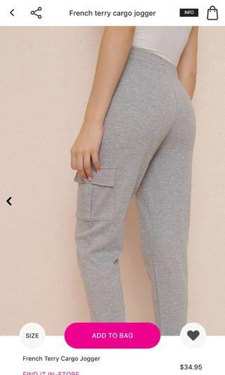 Garage French terry joggers