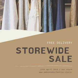 Storewide Sale with FREE delivery on all orders