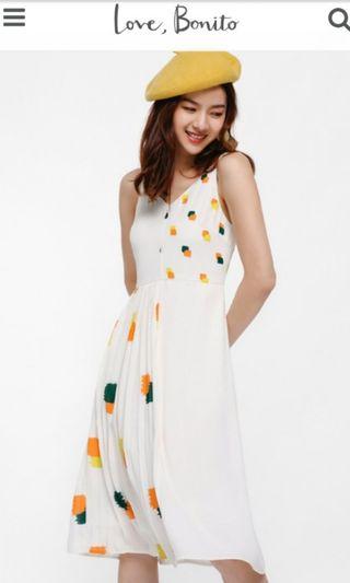 f0addcfbebb5 Love Bonito Cambrie Contrast Pleated Midi Dress in Cream