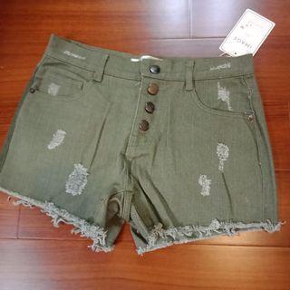 🚚 Image 綠色牛仔褲