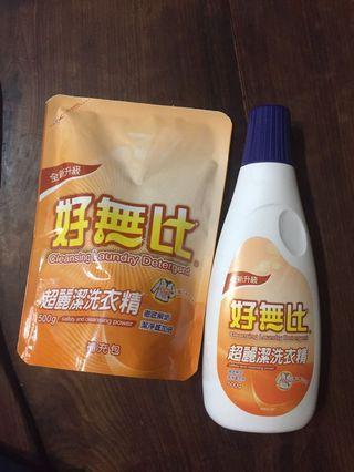 全新 好無比超麗潔洗衣精 500g+500g補充包 共1000g 可換物