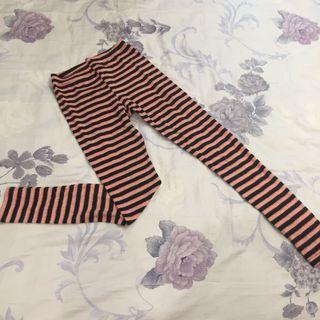 🚚 MIT粉紅條紋內搭褲